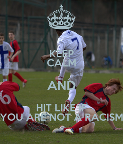 Poster: KEEP CALM AND HIT LIKE IF YOU ARE NOT A RACISM