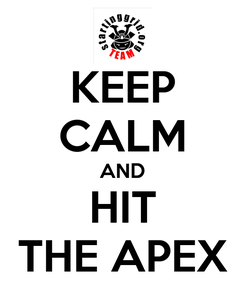 Poster: KEEP CALM AND HIT THE APEX