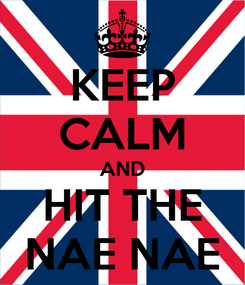 Poster: KEEP CALM AND HIT THE NAE NAE