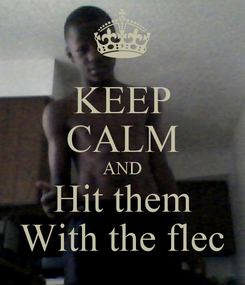 Poster: KEEP CALM AND Hit them With the flec