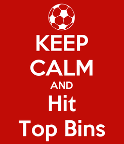 Poster: KEEP CALM AND Hit Top Bins