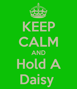 Poster: KEEP CALM AND Hold A Daisy