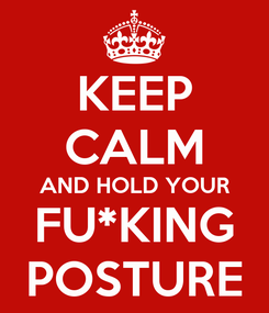 Poster: KEEP CALM AND HOLD YOUR FU*KING POSTURE