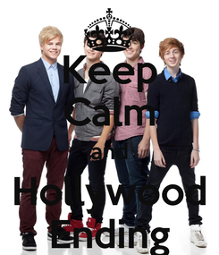 Poster: Keep Calm and Hollywood Ending