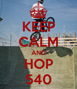 Poster: KEEP CALM AND HOP 540