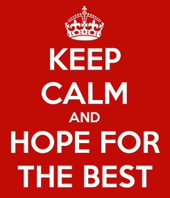 Poster: KEEP CALM AND HOPE FOR THE BEST