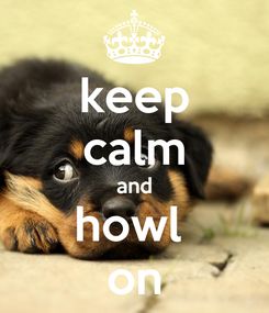 Poster: keep calm and howl  on