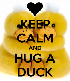 Poster: KEEP CALM AND HUG A DUCK