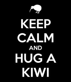 Poster: KEEP CALM AND HUG A KIWI