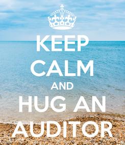 Poster: KEEP CALM AND HUG AN AUDITOR