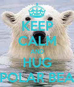 Poster: KEEP CALM AND HUG PPOLAR BEAR