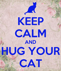Poster: KEEP CALM AND HUG YOUR CAT