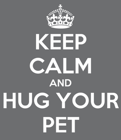 Poster: KEEP CALM AND HUG YOUR PET