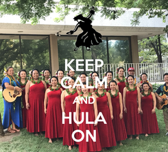 Poster: KEEP CALM AND HULA ON