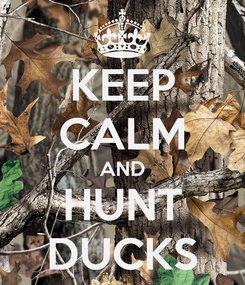 Poster: KEEP CALM AND HUNT DUCKS