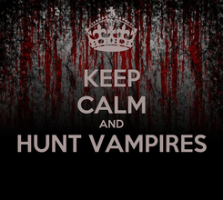 Poster: KEEP CALM AND HUNT VAMPIRES