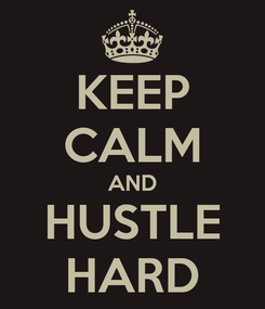 Poster: KEEP CALM AND HUSTLE HARD