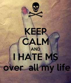 Poster: KEEP CALM AND I HATE MS  over all my life