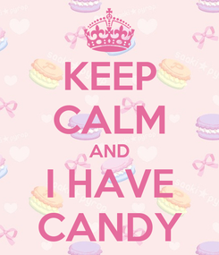 Poster: KEEP CALM AND I HAVE CANDY