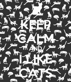 Poster: KEEP CALM AND I LIKE CATS