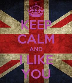 Poster: KEEP CALM AND I LIKE YOU