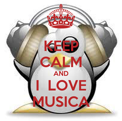 Poster: KEEP CALM AND I  LOVE MUSICA