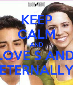 Poster: KEEP CALM AND I LOVE S AND J ETERNALLY