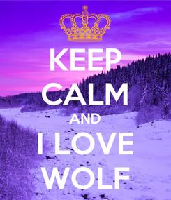 Poster: KEEP CALM AND I LOVE WOLF