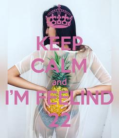 Poster: KEEP CALM and I'M FEELIND 22