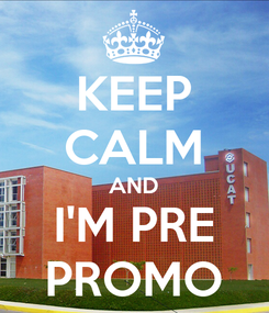 Poster: KEEP CALM AND I'M PRE PROMO