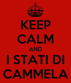 Poster: KEEP CALM AND I STATI DI CAMMELA