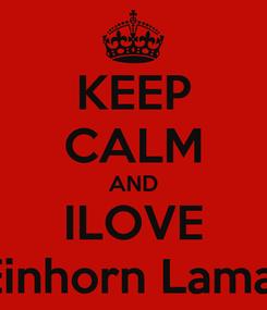 Poster: KEEP CALM AND ILOVE Best Bro Pinkes Einhorn Lama mit zwei Hörner