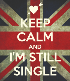 Poster: KEEP CALM AND I'M STILL SINGLE