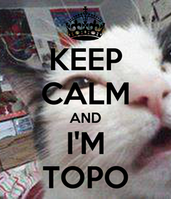 Poster: KEEP CALM AND I'M TOPO