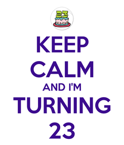 Poster: KEEP CALM AND I'M TURNING  23