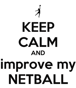 Poster: KEEP CALM AND improve my NETBALL
