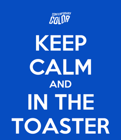 Poster: KEEP CALM AND IN THE TOASTER