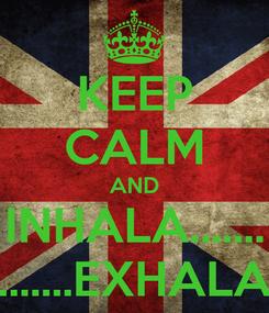 Poster: KEEP CALM AND INHALA....... .......EXHALA