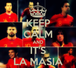 Poster: KEEP CALM AND IT'S LA MASIA