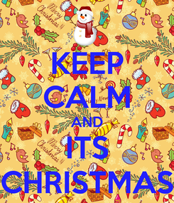 Poster: KEEP CALM AND ITS CHRISTMAS