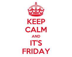 Poster: KEEP CALM AND IT'S FRIDAY