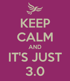 Poster: KEEP CALM AND IT'S JUST 3.0