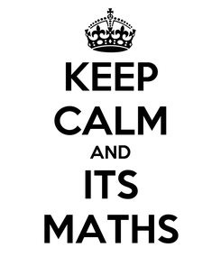 Poster: KEEP CALM AND ITS MATHS