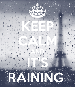 Poster: KEEP CALM AND IT'S RAINING