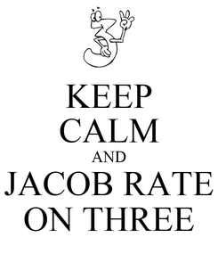Poster: KEEP CALM AND JACOB RATE ON THREE