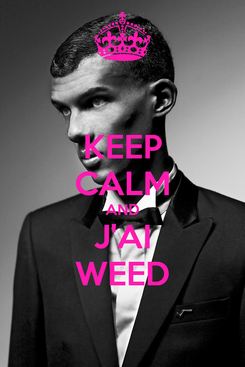 Poster: KEEP CALM AND J'AI WEED