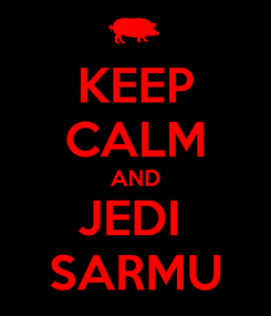 Poster: KEEP CALM AND JEDI  SARMU