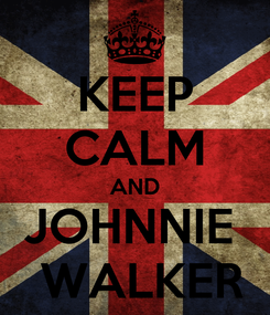 Poster: KEEP CALM AND JOHNNIE   WALKER