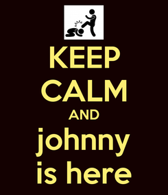 Poster: KEEP CALM AND johnny is here