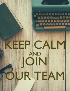 Poster:  KEEP CALM AND JOIN OUR TEAM